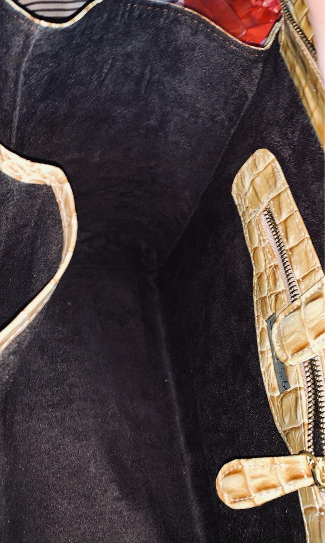 Tas croco kulit asli buaya