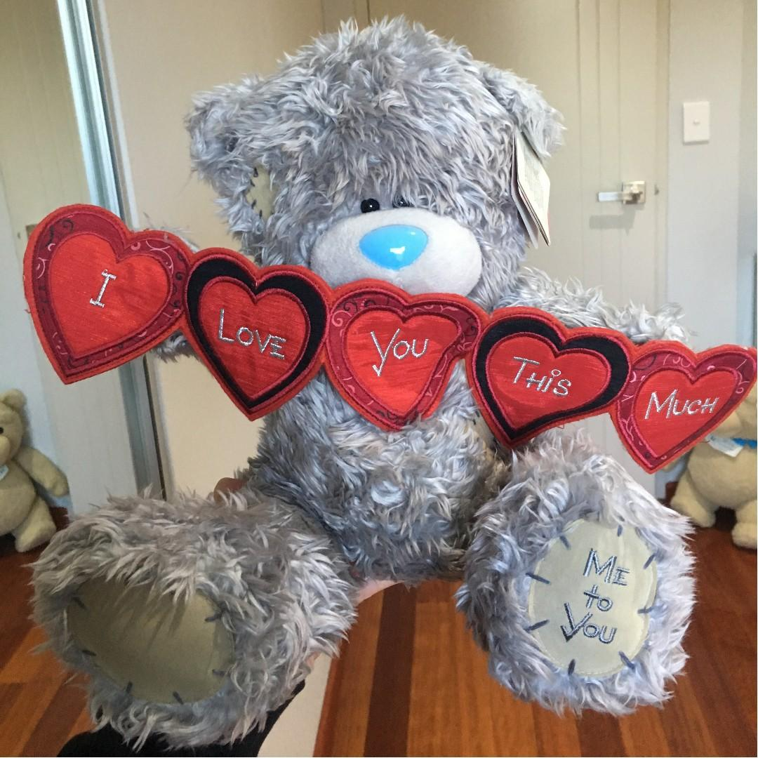 Tatty Teddy Bear - I LOVE YOU THIS MUCH NEW WITH TAGS