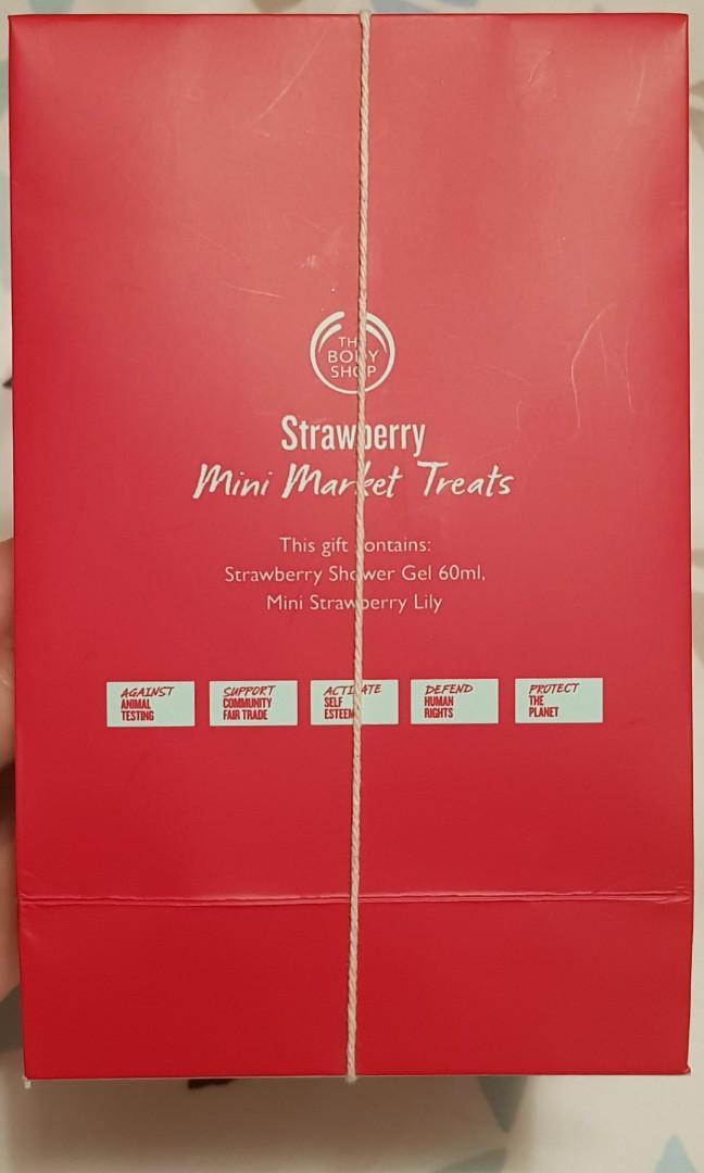 New The Body Shop - Strawberry Shower Gel + Washing scrub