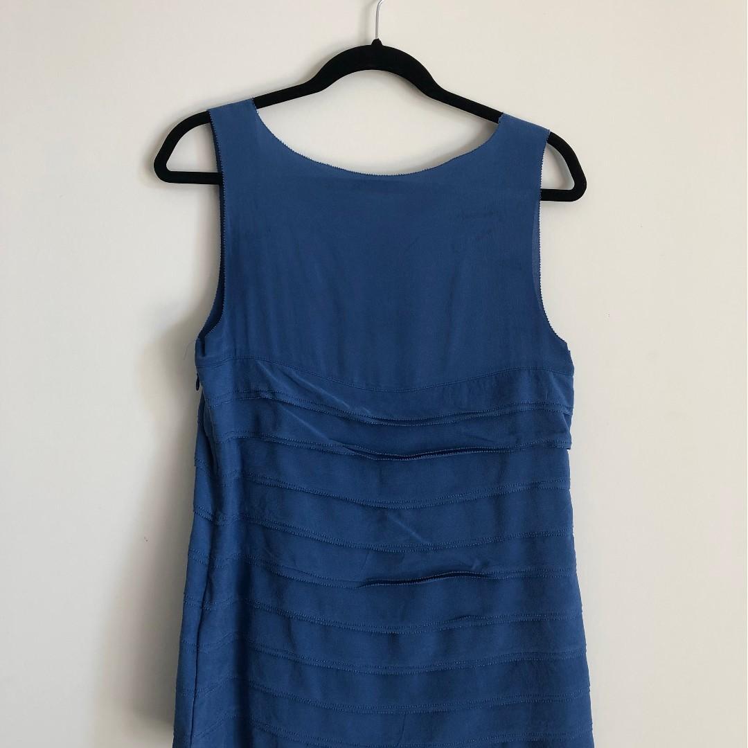Tory Burch 100% Silk Royal Blue Sleeveless Top USED