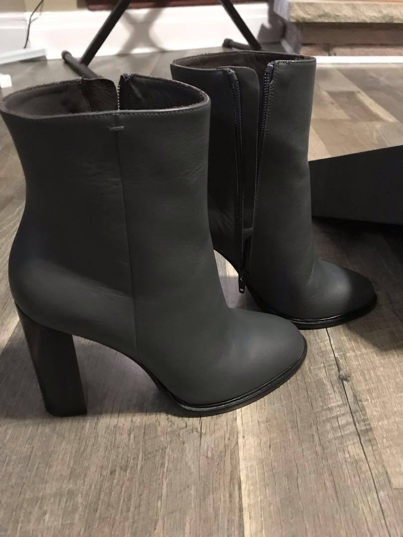 VINCE NIB Charcoal Heel Booties Size 7 (on Shopbop for $667)
