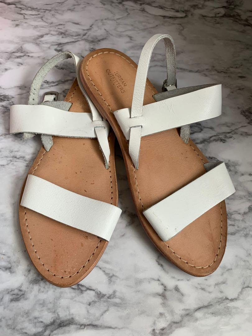 White Urban Outfitters sandals