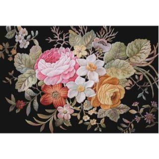 40cmx60cm carpet Camellia black Yu