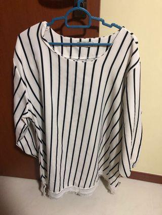 🚚 Plus size Striped Blouse