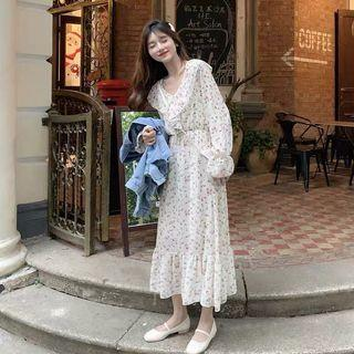 Korean Sera Floral Maxi Dress