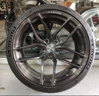 """20"""" Stance SF03 rotary forged USA rim with tyres"""