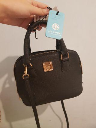 Authentic100% Tas bag les catino mini black bugati, harga normal 880rb !