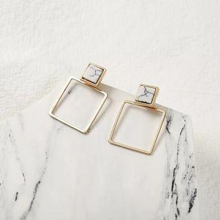 Earrings square anting modis putih