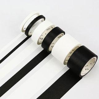 Solid Black Washi Tape / Solid White Washi Tape