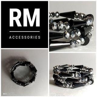 Black Silver Crystal Bracelet