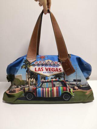 真品 PAUL SMITH 帆布 Las Vegas bag 大袋 旅行袋 可上膊 travel