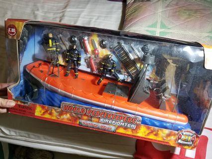 大盒消防船Toy玩具模型