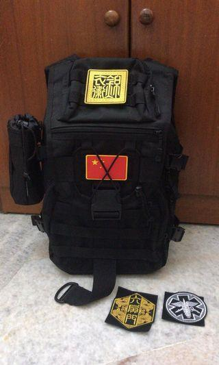 Black Military Tactical Backpack