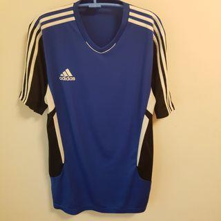 🚚 adidas藍黑,紅黑排汗衫 XL