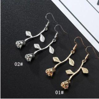 [2 PAIRS FOR $6] Rose Drop Earrings (PO)
