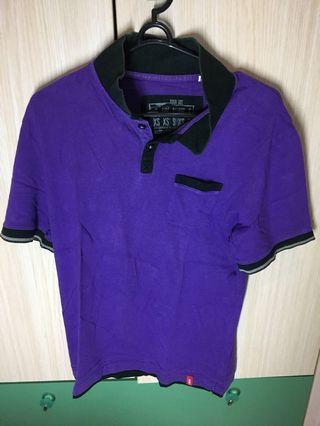 #BAPAU Kaos berkerah edc by espirit ungu