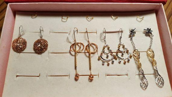 18K 2 col or 3col Earrings(non nego)