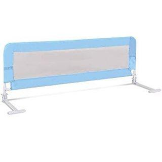 Folding Safety Bed Guard - blue