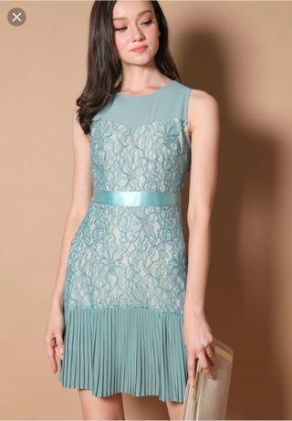 🚚 TSW Vanessa pleated lace dress in seaform