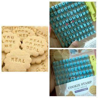 LETTERS AND NUMBERS COOKIE STAMP OR CLAY STAMPER
