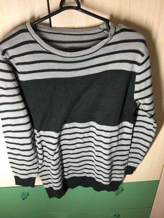 #BAPAU Sweater korea garis garis