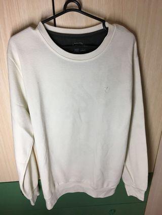#BAPAU Sweater detail putih polos