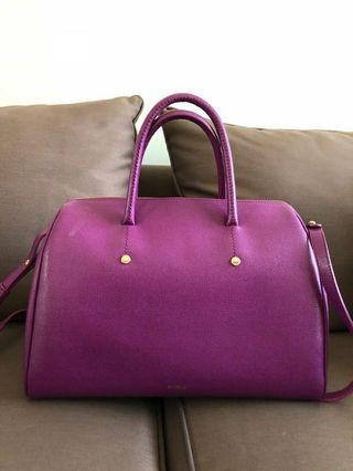 furla handbag warna purple magenta kondisi 8/10 include dustbag