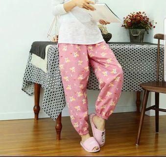 韓國哥基圖案睡褲粉紅色