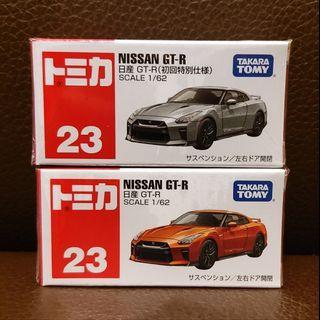 Tomica 紅白盒 No.23 Nissan GTR 行版一對