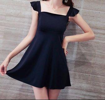 Fluffy Dress (Black color)