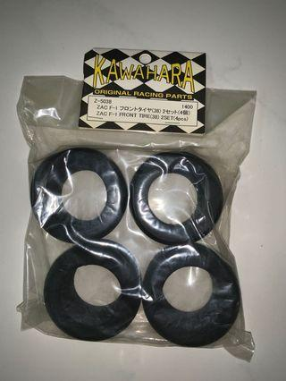 ZAC F104 Front Tires 38Shore for Tamiya