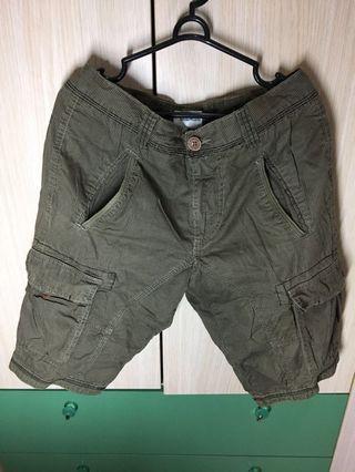 #BAPAU Celana pendek army hijau merk energie