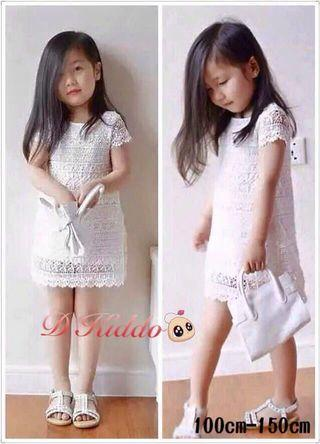 Front & Back Lace Girls Dress