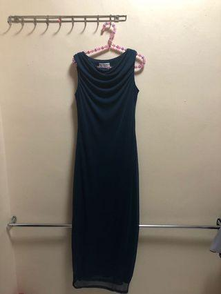 Navy Blue Maxi Sleeveless Dress