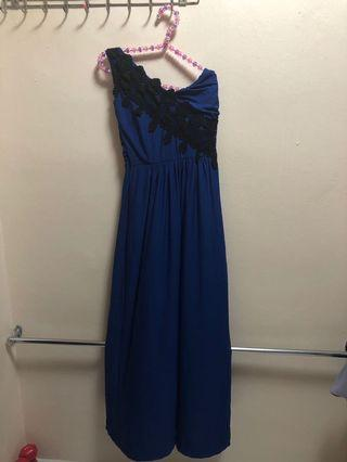 🚚 Royal Blue Maxi Toga Dress