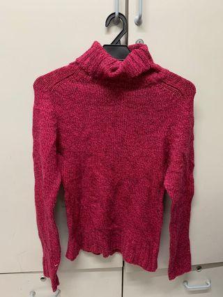 Turtleneck Pink Knitwear
