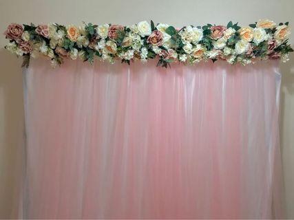 Pink Backdrop Rental