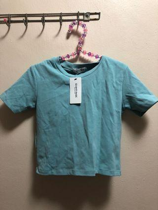 BNWT Blue Crop Top