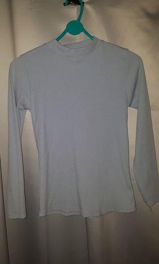 Dusty blue long sleeve sweater