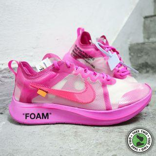 """OFF WHITE x NIKE ZOOM FLY SP """"RACER PINK"""""""