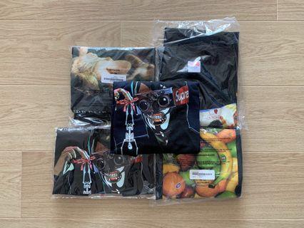 Supreme SS19 T-Shirts (Swan/Creeper/Fruit Tee)