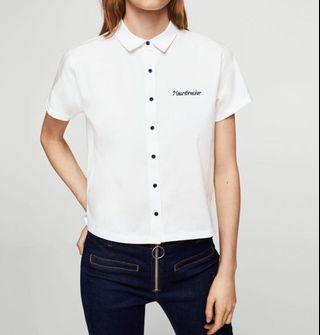 MANGO heartbreaker embroidered Tshirt