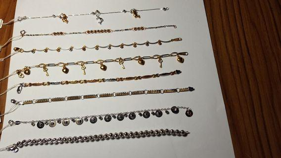 18K 2col and 3col bracelets(non nego)