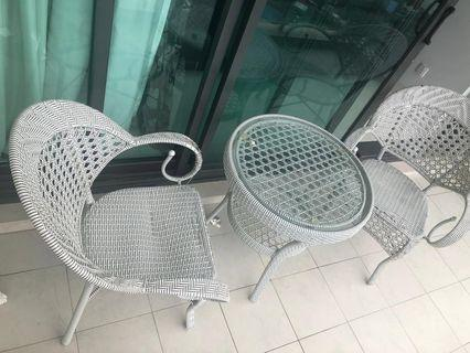 Balcony chilling Chair & Table