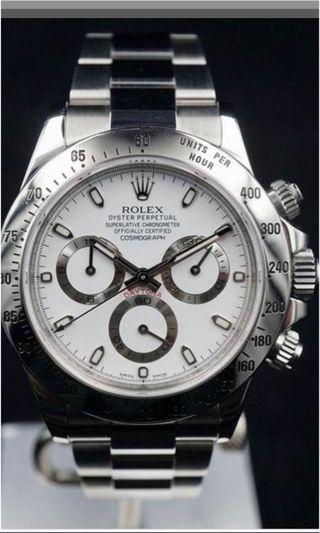 WTB White Daytona Rolex 116520