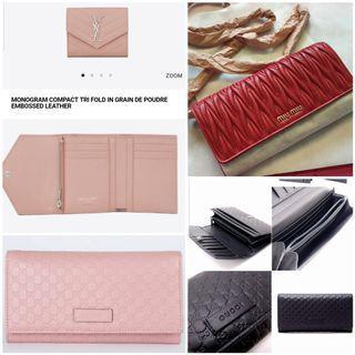 Gucci wallet YSL wallet Miu Miu Wallet on chain