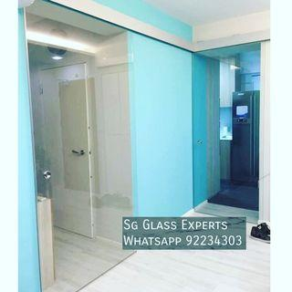 🚚 Tinted glass sliding door renovation