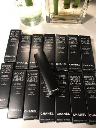 Chanel 116 Rouge Allure Velvet Extreme 唇膏💄