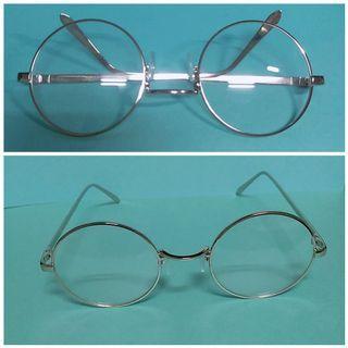 🚚 圓框銀色平光眼鏡