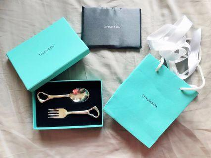 Tiffany & Co spoon and fork (Tiffany 匙羹 义 gift 送禮)